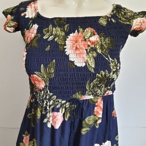 Band of Gypsies floral smocked maxi dress